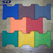 Wholesale Rubber Flooring Type Rubber Brick Pavers