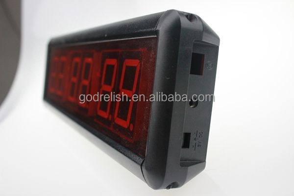 "Godrelish 1.8"" Red digital wall led countdown timer 6 digits 7 segment led display for countdown timer"