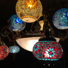 2015 NEW desigh Istanbul Handicraft Mosaic Art Turkish hanging Lamps (CL4L8M01) Made in China Chandelier