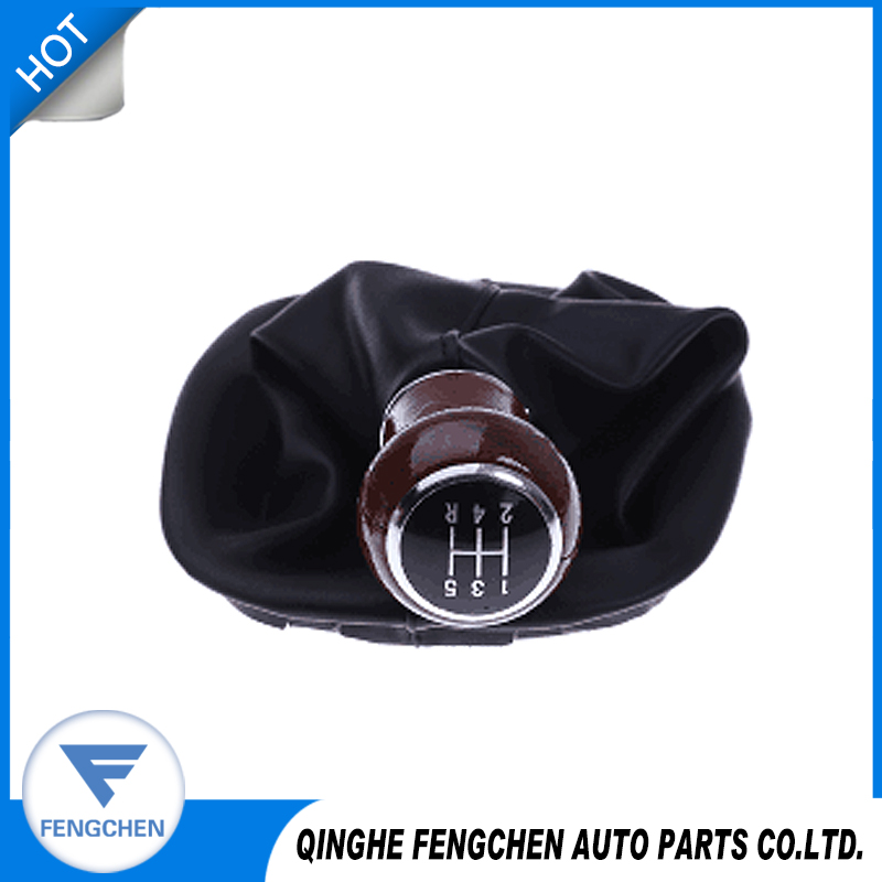 Leather gear wood shift knob cover for Volkswagen 95 - 06 Passat B5