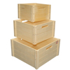 Unfinished wood craft supplies wooden apple crates wholesale
