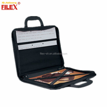 FILEX Brand Luxury Design PU Leather Art Portfolio Case Zipper Drafting Bag