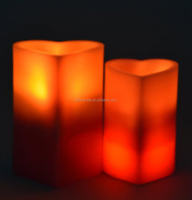 Customed Luxury Brand flameless candle wax scent remote timer/led decorative