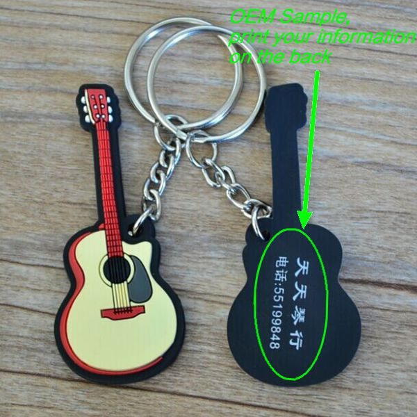 Beautiful souvenir or gift pvc keychain / keychain screwdriver