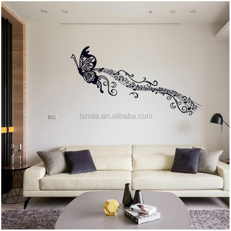 Fashion Black Wall Art Butterfly Wall Stickers Removable Home Decor Vinyl Art Mural Decals