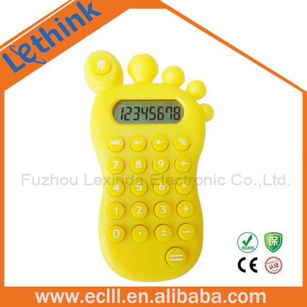 Mini foot shape 8-digit calculator gift