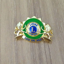 Lions metal badge with your logo design