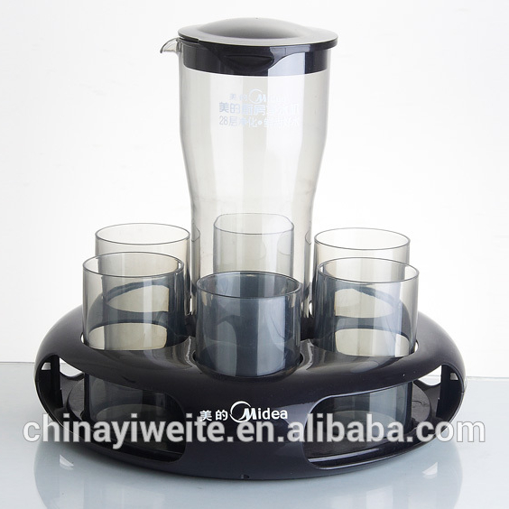 Plastic Water Jug with 4 cups /water pitcher