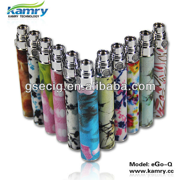 Embossed Ego-Q Battery 1100mAh Passthrough Electronic Cigarette Gift for Lady