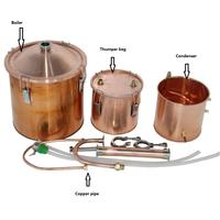 5Gal 20L DIY Alcohol Distiller Moonshine Ethanol Copper Still Boiler Home Brew Accessory