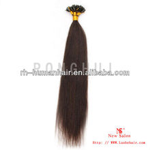Hot! wholesale Single Strand No Shed Colored Synthetic Straight Hair Extensions