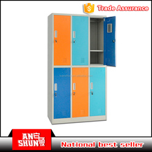 6 door steel shoes and bag lockers, colorful storage cabinet for kids, durable swimming pool lockers