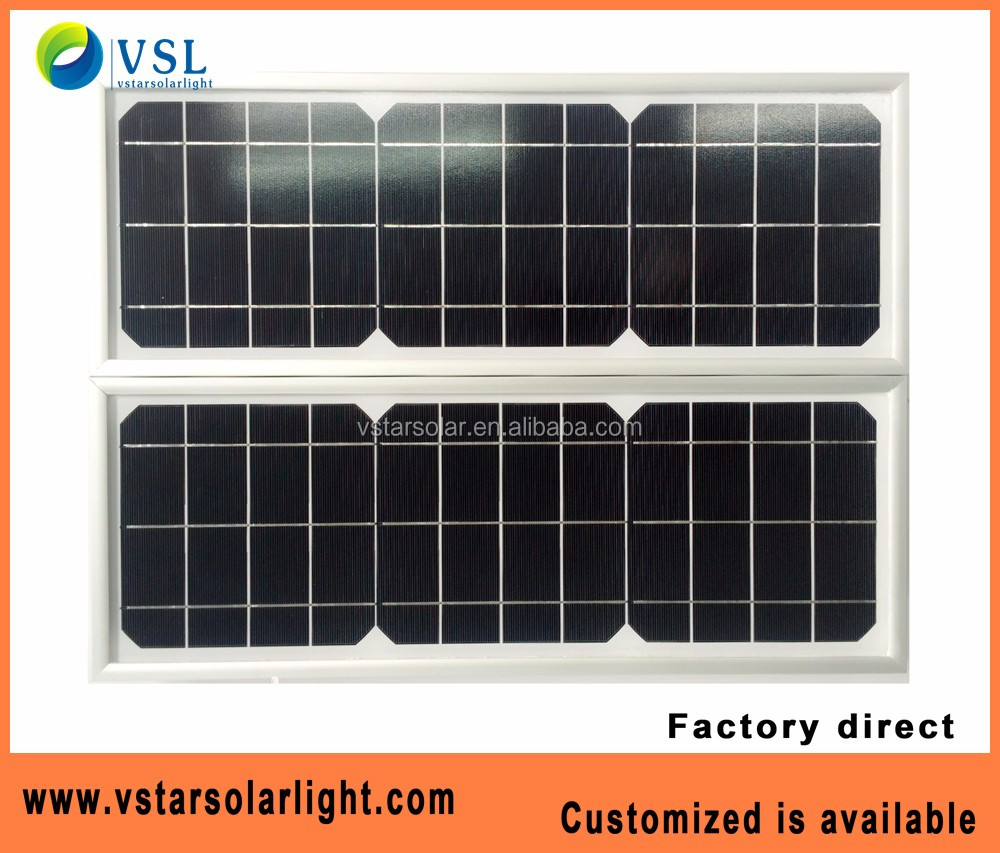 12v 25w solar panel cheap solar system led lamp use mono crystalline solar panels