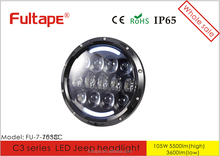 New arrival 7 Inch 105W off road led headlight Super bright LED work light for jeep wrangle