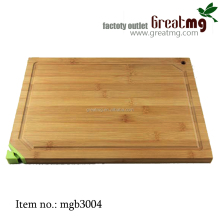 Natural Bamboo Wood Cutting Carving Board with Built-in Ceramic Knife Sharpener