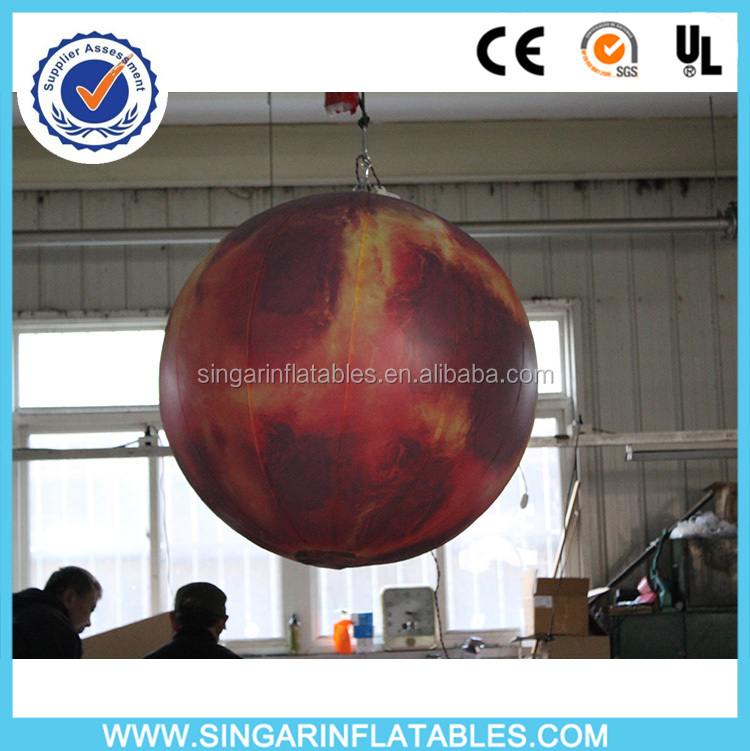 Cheap giant inflatable led light mars planet,decoration inflatables