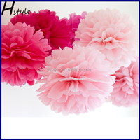 16'' Wedding Tissue Decoration Paper Pom Poms, Paper Ball, Paper Flowers SD002