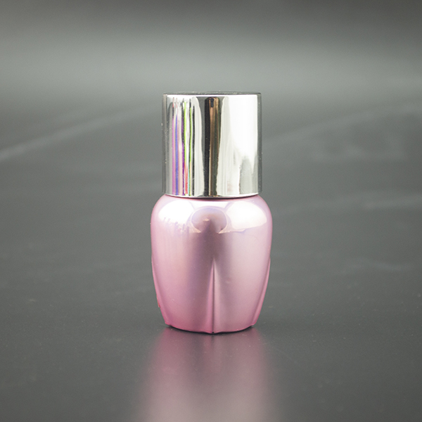 2015 trendy design custom made electroplated uv gel 13ml empty glass nail polish bottles with cap brush