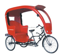 2015 new model 26inch Chinese old style manpower pedicab for passenger/two seat rickshaw