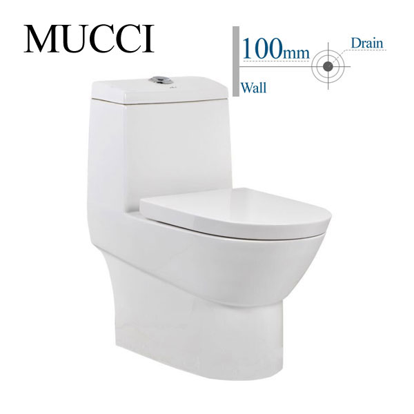 100mm water closet dual flush toilet push button one pice toilet - MUCCI