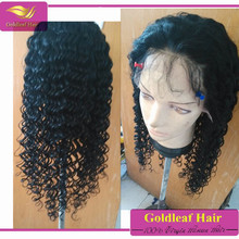 Adjustable strap available top quality cheap natural deep wave virgin human hair wig lace front