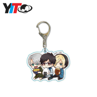 Custom UV printed clear acrylic charms, leading keychain maker in China