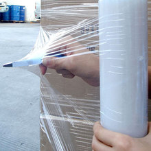 Clear high force high strength manual LLDPE stretch film for pallet wrap