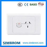 AS series 1 Gang Australian standard power point electrical wall switch and socket with SAA certification