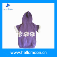 new fashionable purple snow Christmas pet small dog wool clothes