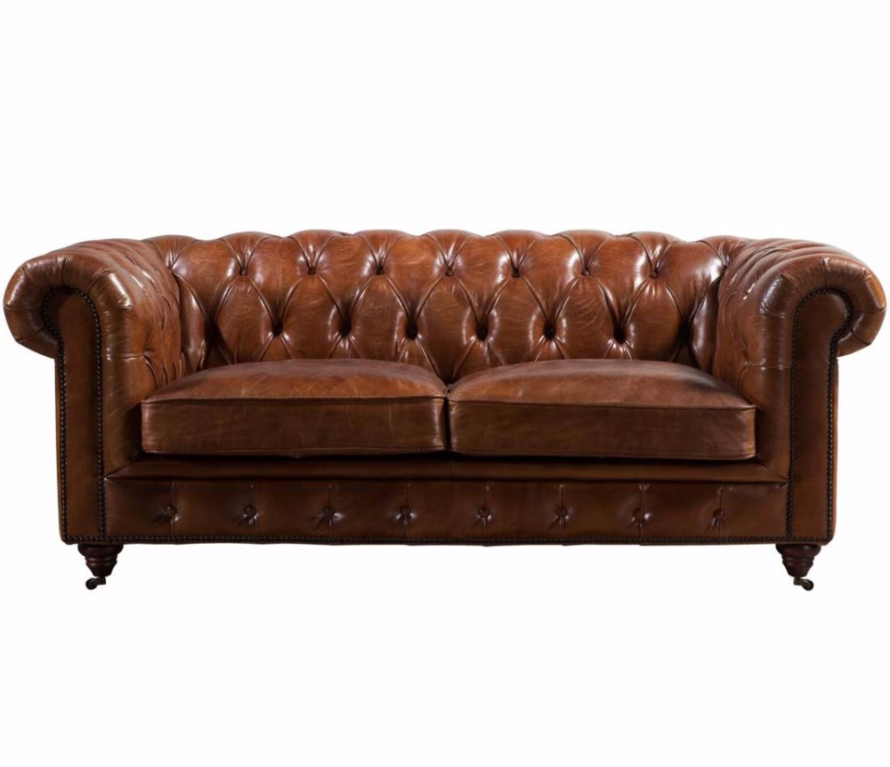 Hand finished vintage tan leather chesterfield sofa furniture view vintage tan leather Vintage tan leather sofa