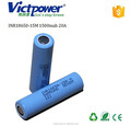 18650 ltihium battery INR18650-15M 1500mah 20A battery cell for samsung
