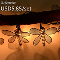 UL christmas dragonfly string lights hanging decoration weatherproof for Patio