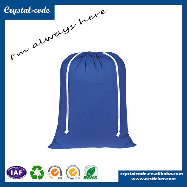 Promotional Wholesale White Drawstring Cotton Cloth Bag