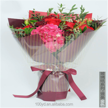 New design scented fresh flower Thickening cellophane jumbo roll gift tissue wrapping paper