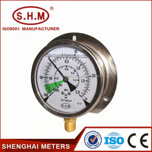 Liquid filled type compound vacuum pressure gauge