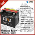 YTX5L-BS lead-acid maintence free battery 12v4ah Scooter batteies for ural motorcycle parts