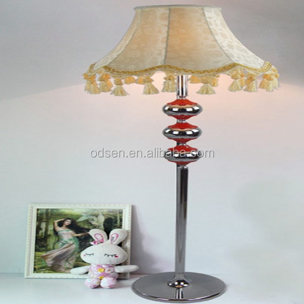Large hotel fancy deco white fabric floor lamp, floor light