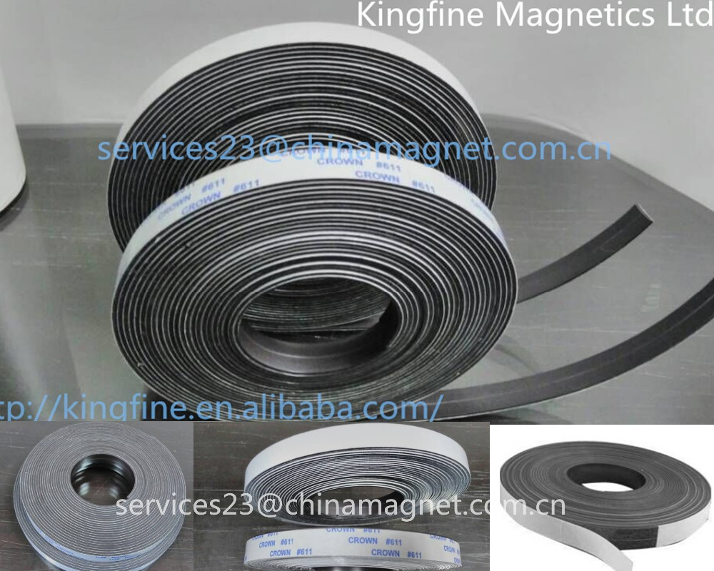 Rubber magnet strip / magnetic rubber strips/ Rubber magnet strip with self adhesive
