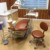 Customized Orange Dental Chair dental chair with stool best quality and low price