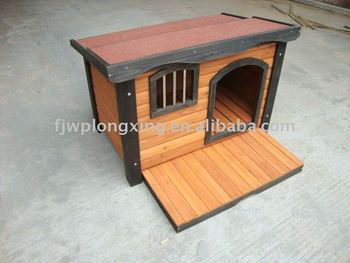 Wooden Dog kennel In The Garden