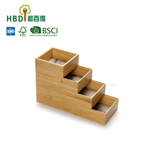 Bamboo decorative organizing storage boxes