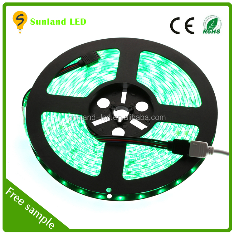 RGB 5050 led strip 300LEDs 5m 12v ip65 watefproof color temperature changing led light bulb lamp 12v