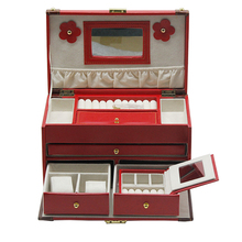 Wedding gift jewelry organizer leather necklace boxes for sale