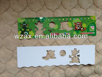 Customized shape promotion OEM PP PVC ruler