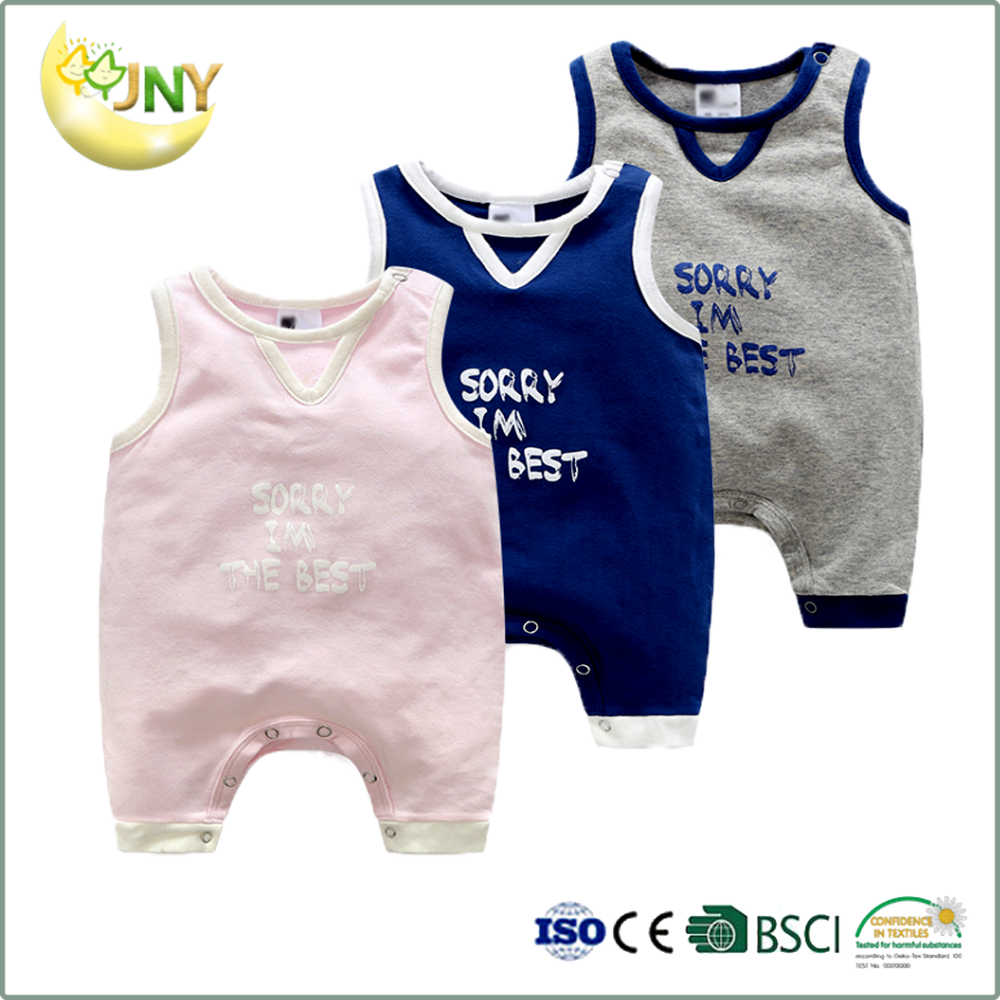 China baby summer clothes 100 cotton carter plain baby bodysuit
