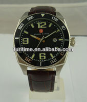 trendy men watches 2011 real leather strap elegance watch