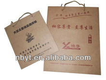 Recycle Kraft Bag by ningbo manufacturer