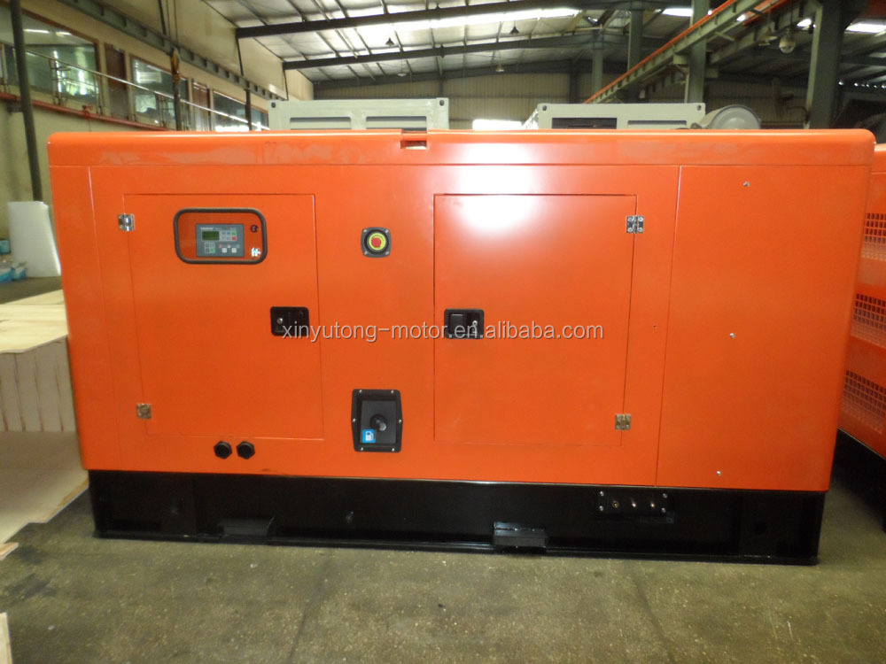 100KW Water cooled Denyo Silent Canopy Type Weichai Ricardo Diesel Generator Set