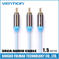 Vention Polybag packing Gold Plated Blue cable audio video