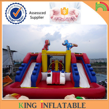 Fashionable Mini Cheap Inflatable Water Slide Outdoor With Pool For Inflatable Water Games